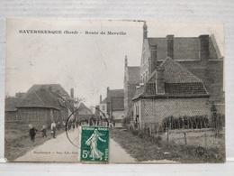 RARE. Haverskerque. Route De Merville. Animée - Sonstige Gemeinden