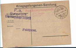 Ger432 / DEUTSCHLAND - Gefangenenlager Stuttgart/Berg 1916 Mit 2-facher Freigabe + Feldpoststempel - Allemagne