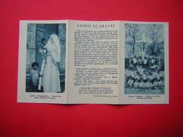 CALENDRIER 3 VOLETS PETIT FORMAT 1933 RELIGIEUX  OEUVRE PONTIFICALE DE LA SAINTE ENFANCE - Calendars