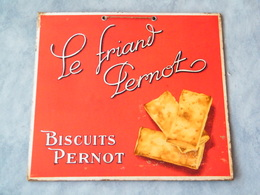 Biscuits PERNOT / DIJON , Le Friand Pernot , 19e Siecle à Début 20e , Plaque Carton à Suspendre ( Cote D'or , 21 ) - Plaques En Carton