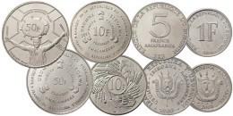BURUNDI 4 COINS SET 1, 5, 10, 50 FRANCS UNC - Burundi