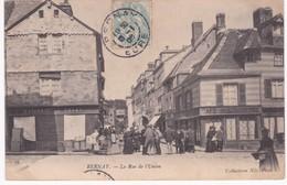 27 Eure -  BERNAY - La Rue De L'Union - Café De L'Equerre - 1905 - Bernay