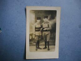 PHOTOGRAPHIE  Militaires Du 35° Tirailleurs ( Algériens ? )   -- ALGERIE  -  MAROC  - - War 1914-18
