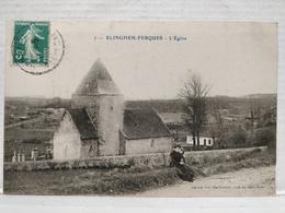 Elinghen-Ferques. Eglise. Animée - France