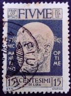 Fiume Occupation Italie Italy Italia 1920 Yvert 98 O Used Usato - Fiume