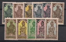 Haute-Volta - 1928 - Complet Du N°Yv. 43 Au 53 - 11 Valeurs - Neuf Luxe ** / MNH / Postfrisch - Ungebraucht