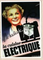 Cppub 064 VIE RADIEUSE La CUISINE ELECTRIQUE 1938 Affiche R. BLONDE Bibliothèque FORNEY-PARIS  REPRO NUGERON J-116 - Publicité