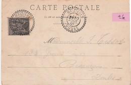 N°26 - 1901 / CPA Notre-Dame-du-Chêne / CAD Pointillé Maizières / 25 Doubs - Postmark Collection (Covers)