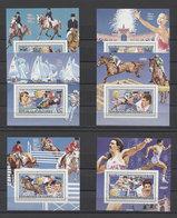 Guinea Olympics Olympic Swimming Horses Mi Bl#122-127 MNH - Verano 1984: Los Angeles