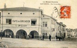 Saint Mihiel - Rue Porte à Metz - Café Des Arcades - L. Pilant - Saint Mihiel