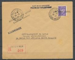 Enveloppe ILOT De St NAZAIRE 60c Griffe TAXE PERCUE Renversée H2278 - Marcophilie (Lettres)