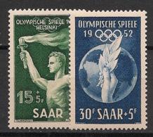 Saar - 1952 - N°Yv. 301 à 302 - Helsinki / Olympics - Neuf Luxe ** / MNH / Postfrisch - 1947-56 Occupation Alliée