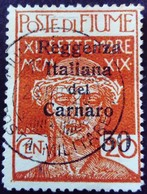 Fiume Occupation Italie Italy Italia Surchargé Overprinted Soprastampati 1920 Yvert 125 O Used Usato - Fiume