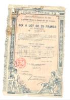 Actions / Titres - Bon à Lot - Exposition Universelle De Paris 1889  (b250) - Shareholdings