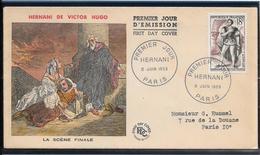 FDC 1953 - 944 Hernani De Victor Hugo - 1950-1959