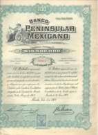 Actions / Titres - Banco Peninsular Mexicano .(b250) - Actions & Titres