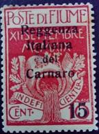 Fiume Occupation Italie Italy Italia Surchargé Overprinted Soprastampati 1920 Yvert 118 * MH - Fiume
