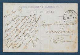 Cachet Section Boulangerie De Campagne N° 17 Sur Carte De Melun - WW I