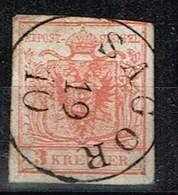Österreich 1851, Michel# 3x1a + GA Ausschnitt O - 1850-1918 Empire