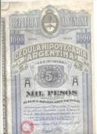 Actions / Titres - Republica Argentina - Cedula Hipotecaria - Argentine .(b250) - Aandelen