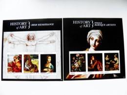 SALE! 2 M/s Grenada Painting History Of Art Renaissance Baroque Leonardo Da Vinci Bellini Grunewald Gentileschi Moillon - Grenada (1974-...)