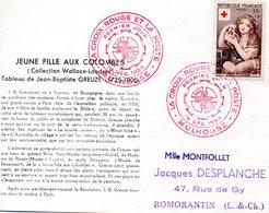 Croix Rouge   1954 Greuze - Red Cross