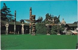 Victoria - Thunderbird Park - Totem Poles ( By Chief Mungo Martin)  - (B.C., Canada) - Victoria