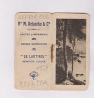 MINI PETIT CALENDRIER  1934 , PUB PEINTURES DETOURBE - Calendars