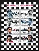 ÖSTERREICH Mi.Nr. 2592-2599 Kleinbogen -Sport - Formel 1 Legenden  -used - Automobile