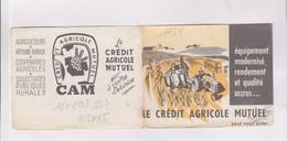 PETIT CALENDRIER  1959 (en 2 Volets) CREDIT AGRICOLE MUTUEL - Calendriers