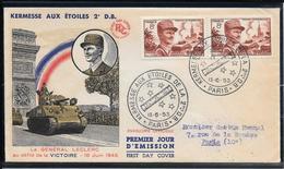 FDC 1953 - 942 Kermesse Aux Etoiles De La 2èmè D.B. - LECLERC - 1950-1959
