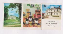 PETIT CALENDRIER  1965 (en 3 Volets)  CHAMPAGNE H. GERMAIN - Calendriers