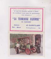 PETIT CALENDRIER  1966 (en 2 Volets)  LA TERRASSE FLEURIE A ST LARY DPT 65 - Calendars