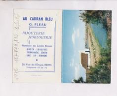 PETIT CALENDRIER  1966 (en 2 Volets)  AU CADRAN BLEU  BIJOUTERIE A REIMS - Calendars