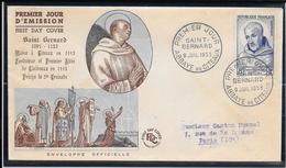 FDC 1953 - 945 Saint Bernard - Abbaye De Citeaux - FDC