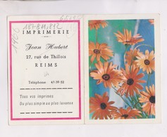 PETIT CALENDRIER  1966 (en 2 Volets)  IMPRIMERIE  JEAN HUBERT A REIMS - Calendriers