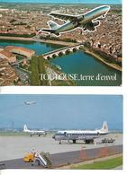 Carte 1989 Avion AIRBUS Décollant De TOULOUSE / Photo Avion AIR NIPPON AIRWAYS à OSAKA - 1946-....: Era Moderna