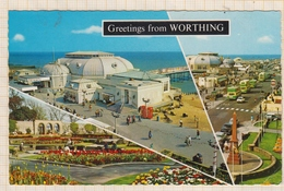 9AL1111 Greetings From Worthing  2 SCANS - Worthing