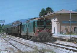 644 Treno D 343.2400 Breda - Antrodocco Rieti Railroad Train Railways FS - Trains