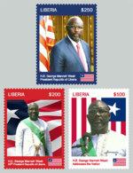 Liberia  2018   George Weah  , President Of Liberia , Flag Of Liberia  ,I201901 - Liberia