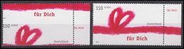 2223 Grußmarke 2001 - Verzähnung Durch Das Markenbild: Wert Mittig Statt Oben ** - BRD