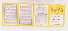 PETIT CALENDRIER  1973 (en 4 Volets)   MEUBLES AU LIT BLEU A ALBI - Calendars