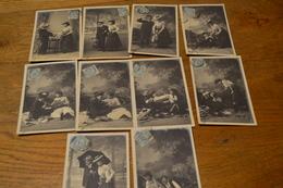 Carte Postale 1904 Série De 10 Cartes Différentes Partie De Campagne - Couples