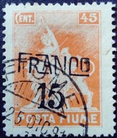 Fiume Occupation Italie Italy Italia Surchargé Overprinted Soprastampati 1919 Yvert 87 O Used Usato - 8. Besetzung 1. WK