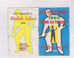 PETIT CALENDRIER  1965    ADOLPHE LAFONT VETEMENTS DE TRAVAIL - Calendars
