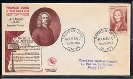 FDC 1953 - 947 Rameau - 1950-1959