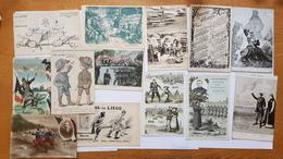 Lot De 122 Cartes Patriotiques Françaises -guerre 14-18 - Guerre 1914-18