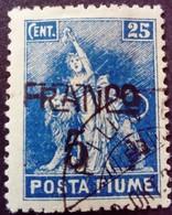 Fiume Occupation Italie Italy Italia Surchargé Overprinted Soprastampati 1919 Yvert 84 O Used Usato - Fiume