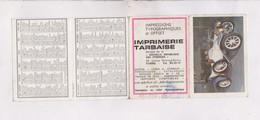 PETIT CALENDRIER  1965 (en 4 Volets) IMPRIMERIE TARBAISE - Calendriers
