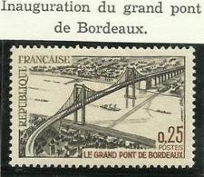 FRANCE - 1967 - INAUGURATION DU GRAND PONT DE BORDEAUX - YT N° 1524 - TIMBRE NEUF** - Frankreich